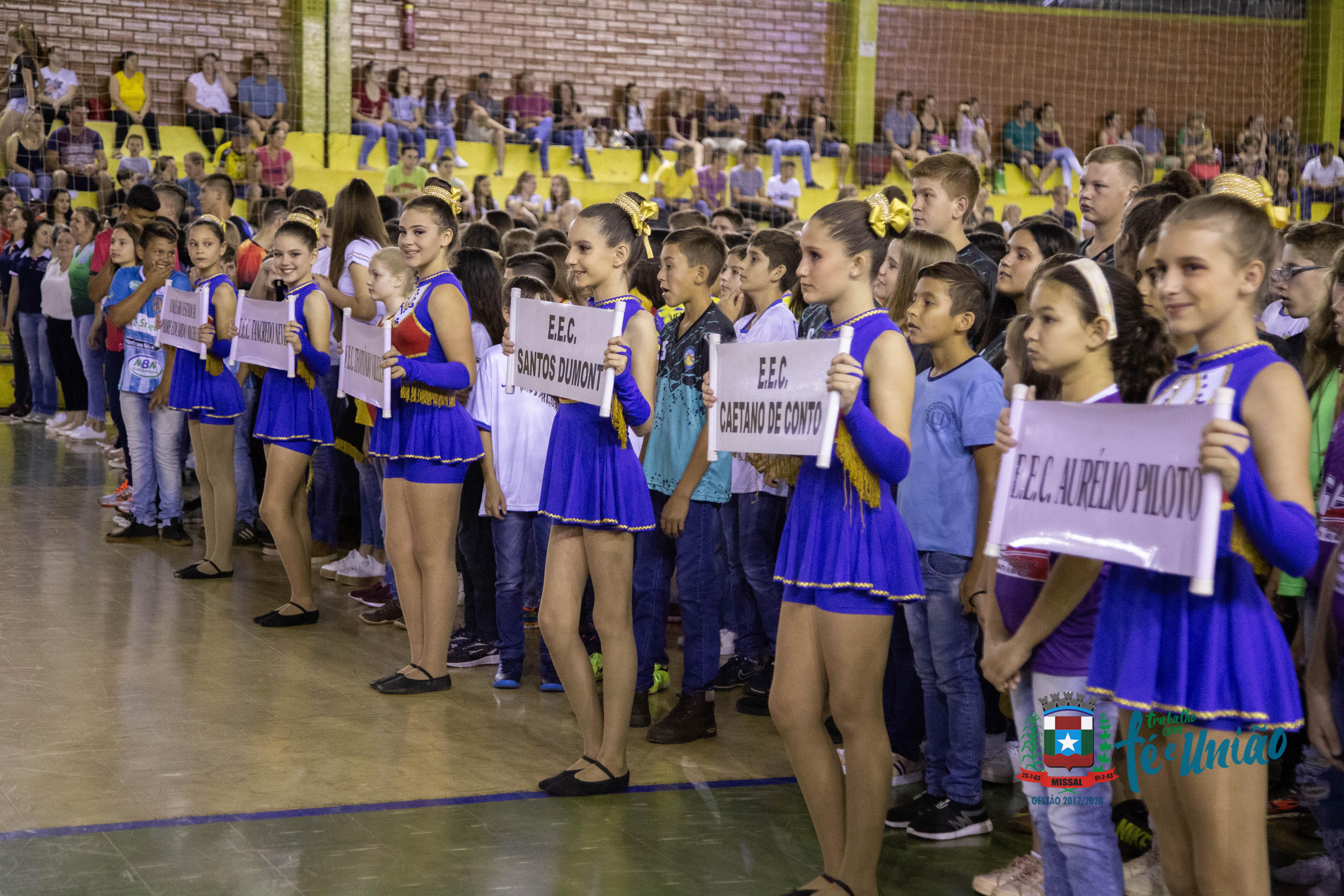 Solenidade de Abertura Dos Jogos Escolares de Missal contou com grande Público